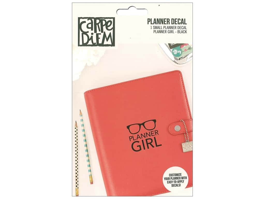 Simple Stories Collection Carpe Diem Planner Decal Small Planner Girl Black