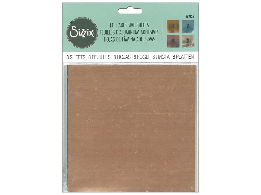 """Sizzix Adhesive Sheets 6""""x 6"""" Foil Assorted"""
