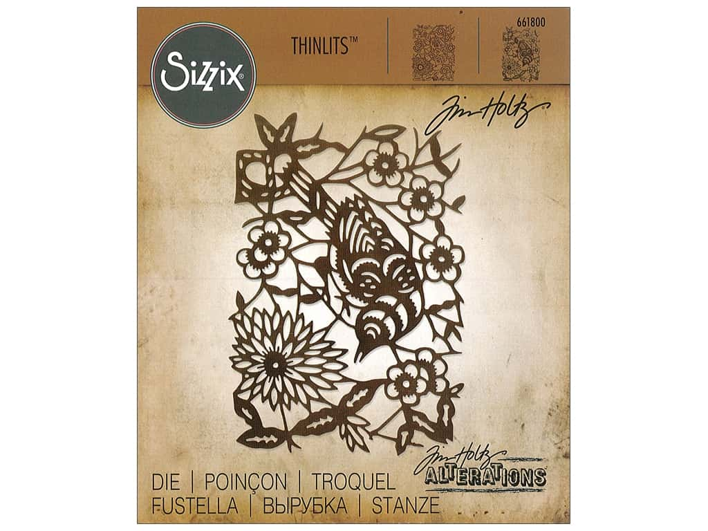 Sizzix Dies Tim Holtz Thinlits Paper Cut Bird