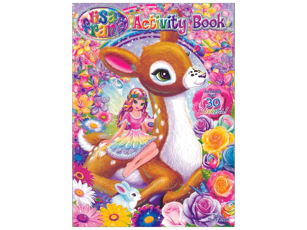 Bendon Activity Book with Stickers Lisa Frank