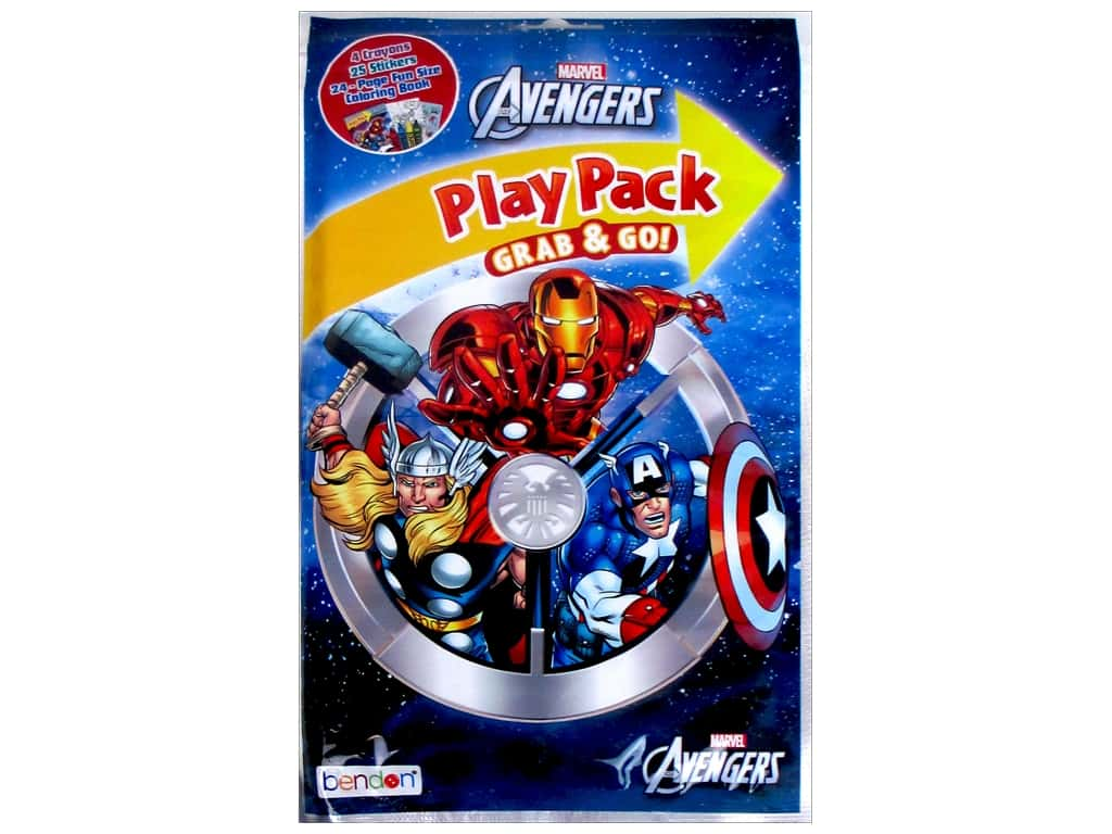 Bendon Coloring Book Play Pack Avengers