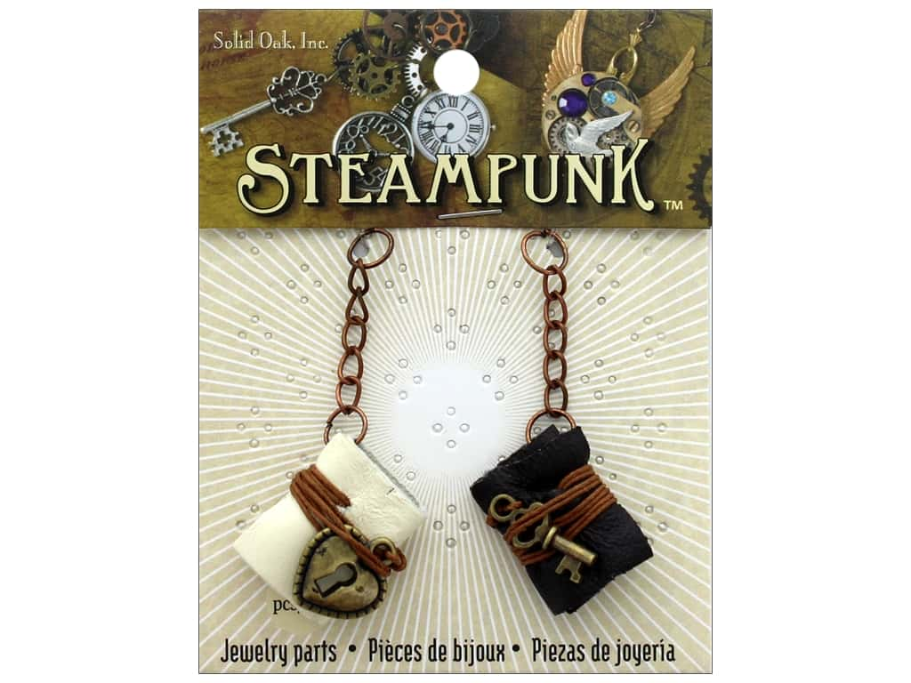 Solid Oak Charm Steampunk Leather Books