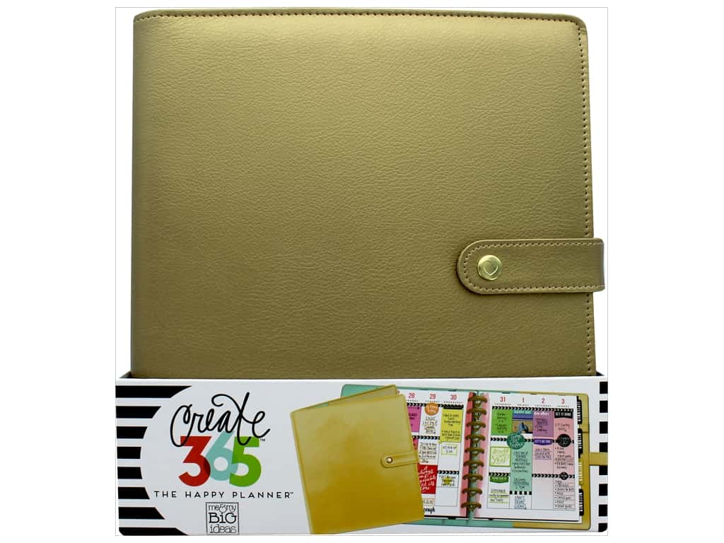 Me & My Big Ideas Create 365 Happy Planner Deluxe Cover - Classic Gold