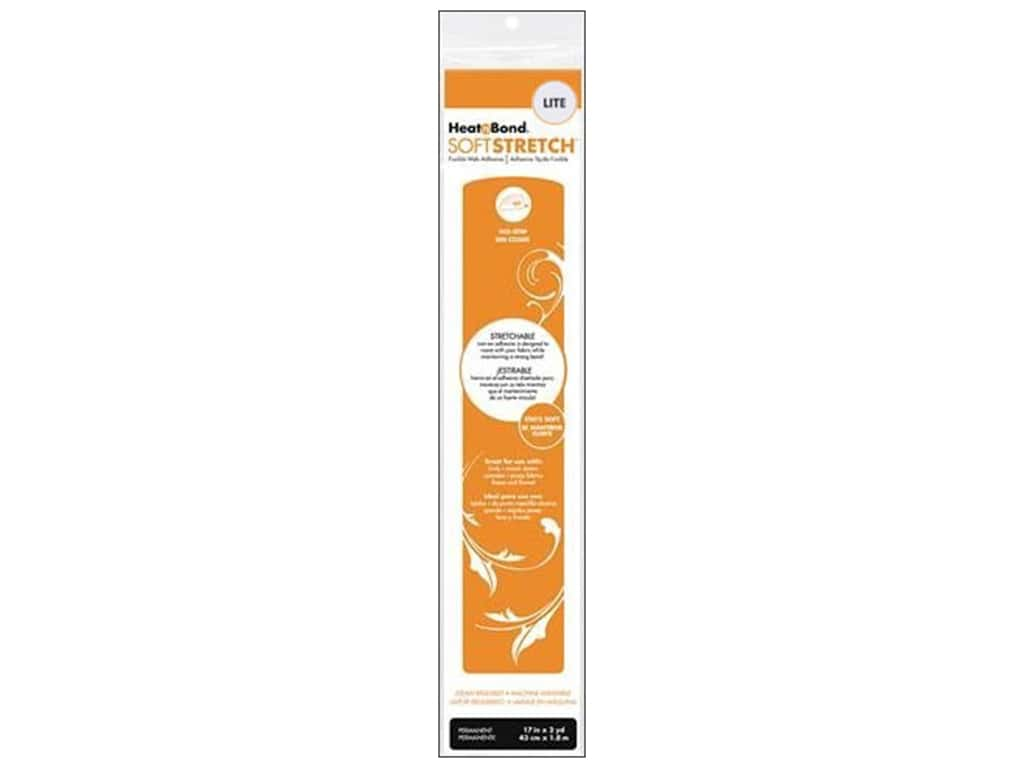"Heat n Bond Lite Iron-on Adhesive Soft Stretch 17""x 2yd"