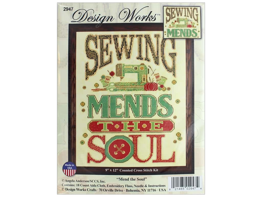Design Works Counted Cross Stitch Kit 9 x 12 in. Mend The Soul