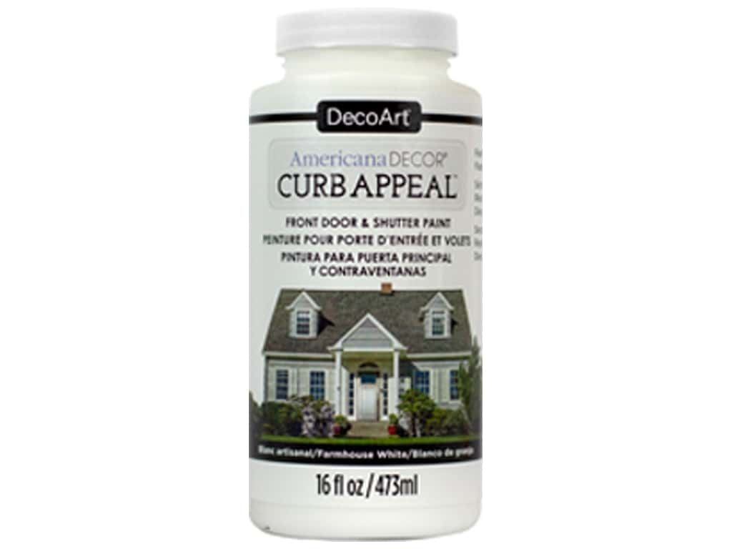 DecoArt Americana Decor Curb Appeal Paint 16 oz. Farmhouse White