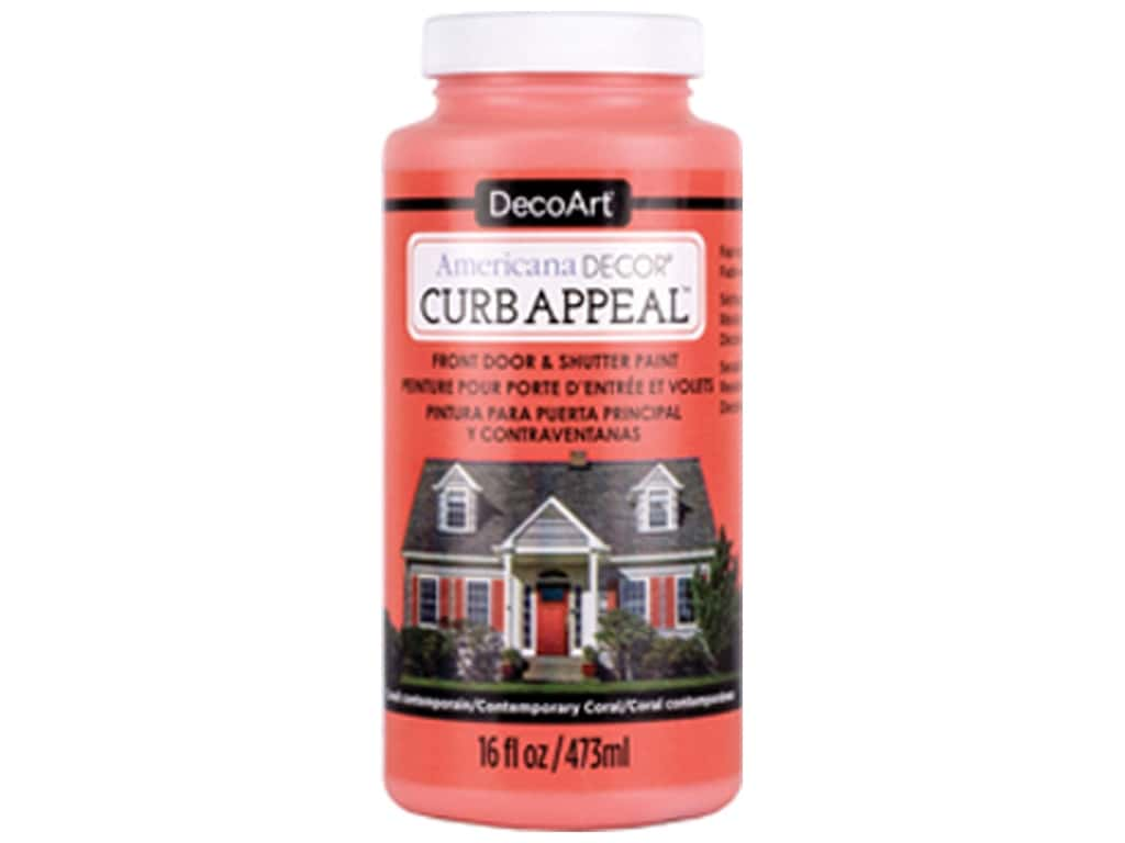 DecoArt Americana Decor Curb Appeal Paint 16 oz. Contemporary Coral