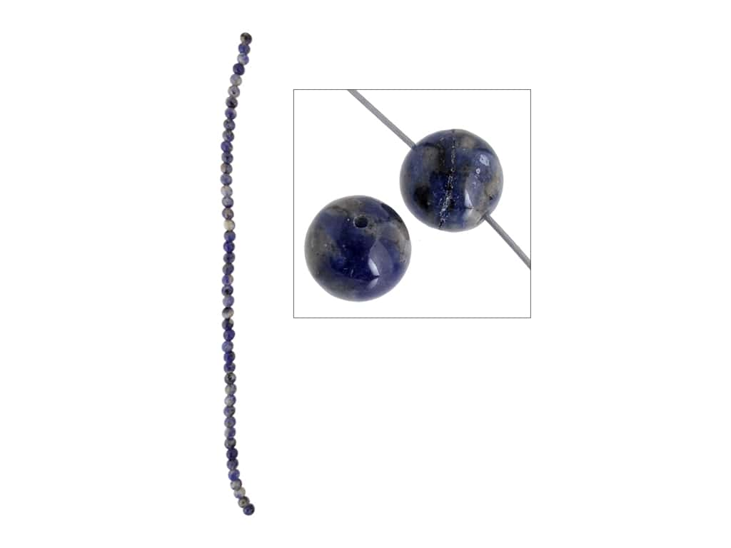 John Bead Semi-Precious 8 in. 4 mm Round Sodalite