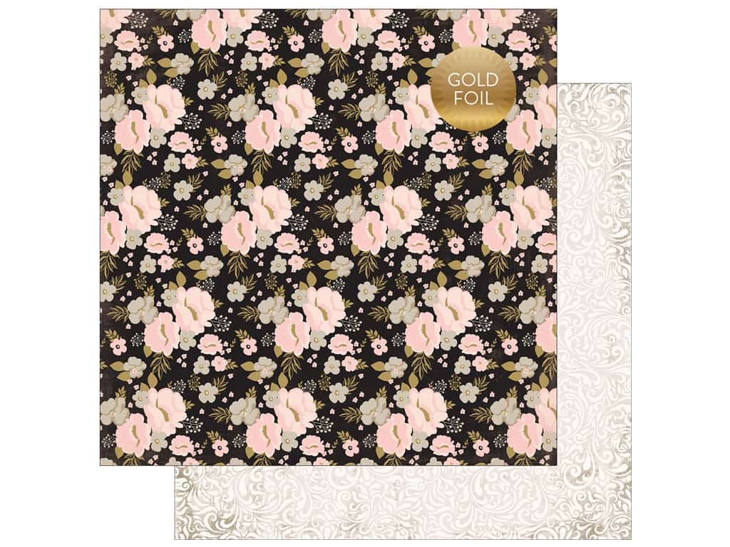 """Echo Park Collection Wedding Bliss Paper 12""""x 12"""" Wedding Floral (25 pieces)"""