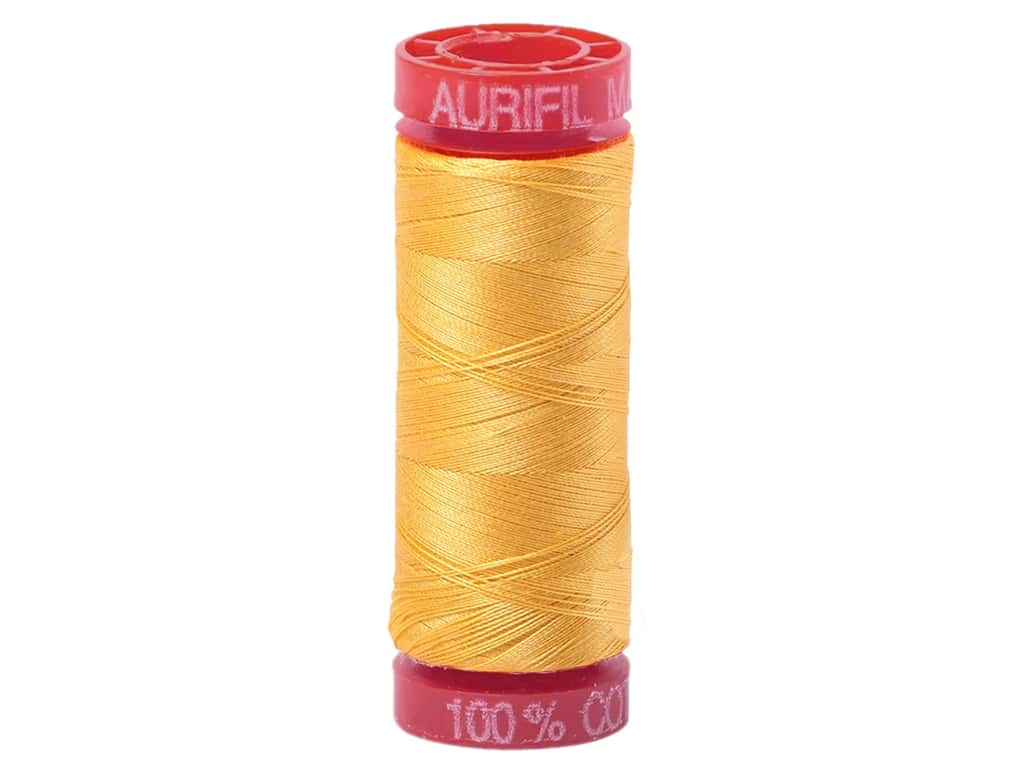 Aurifil Mako Cotton Quilting Thread 12 wt. #1135 Pale Yellow 54 yd.