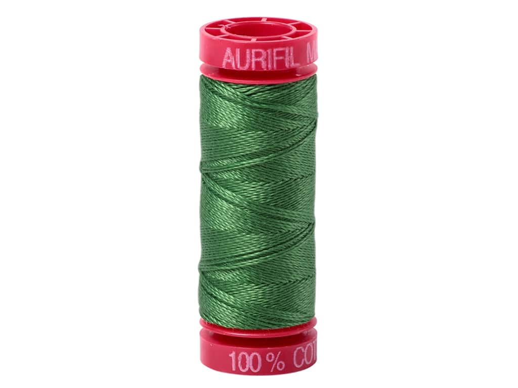 Aurifil Mako Cotton Quilting Thread 12 wt. #2890 Dark Grass Green 54 yd.