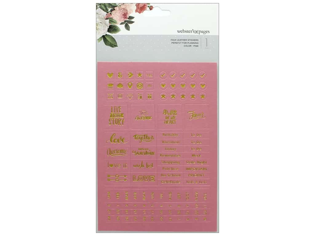 Webster's Pages Color Crush Sticker Faux Leather Pink