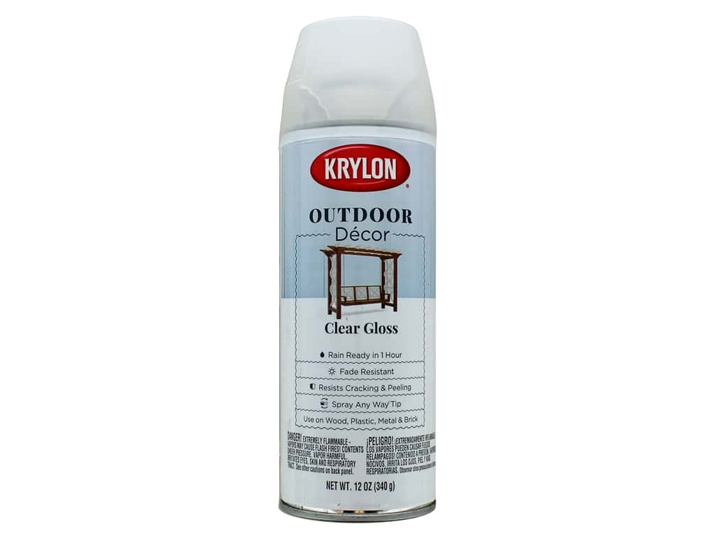 Krylon Outdoor Decor Paint 12 oz. Clear Gloss