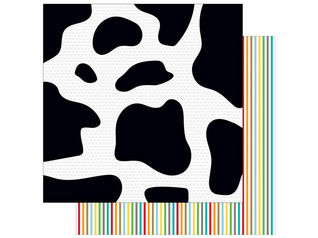 "Bella Blvd Collection Barnyard Paper 12""x 12"" Moo Cow (25 pieces)"