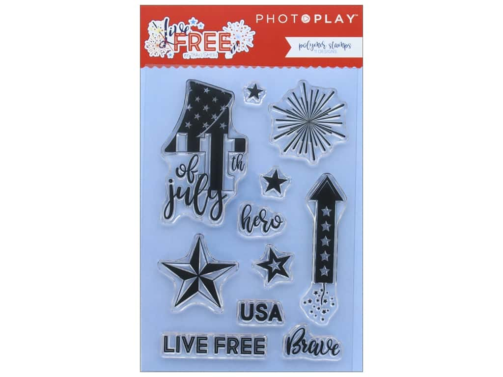Photo Play Collection Live Free Polymer Stamp (3 sets)