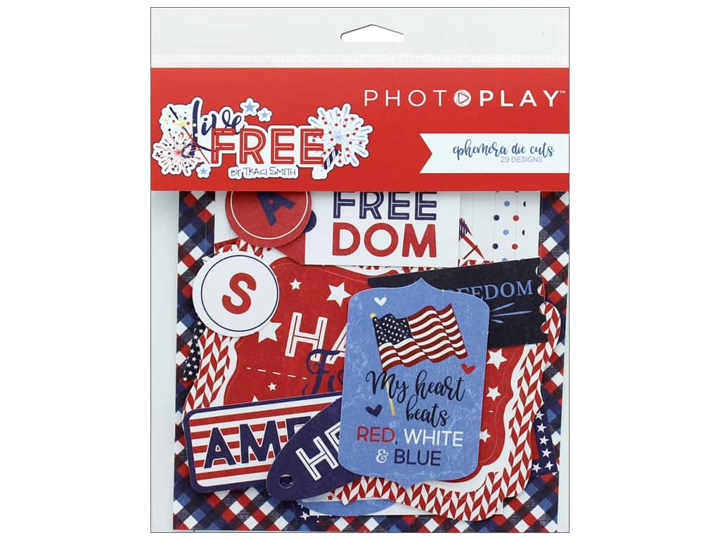 Photo Play Collection Live Free Ephemera Die Cuts (3 sets)