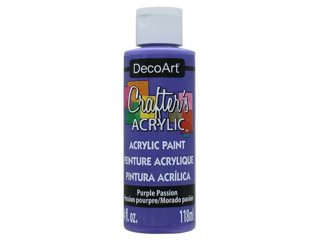 DecoArt Crafter's Acrylic Paint 4 oz. #72 Purple Passion
