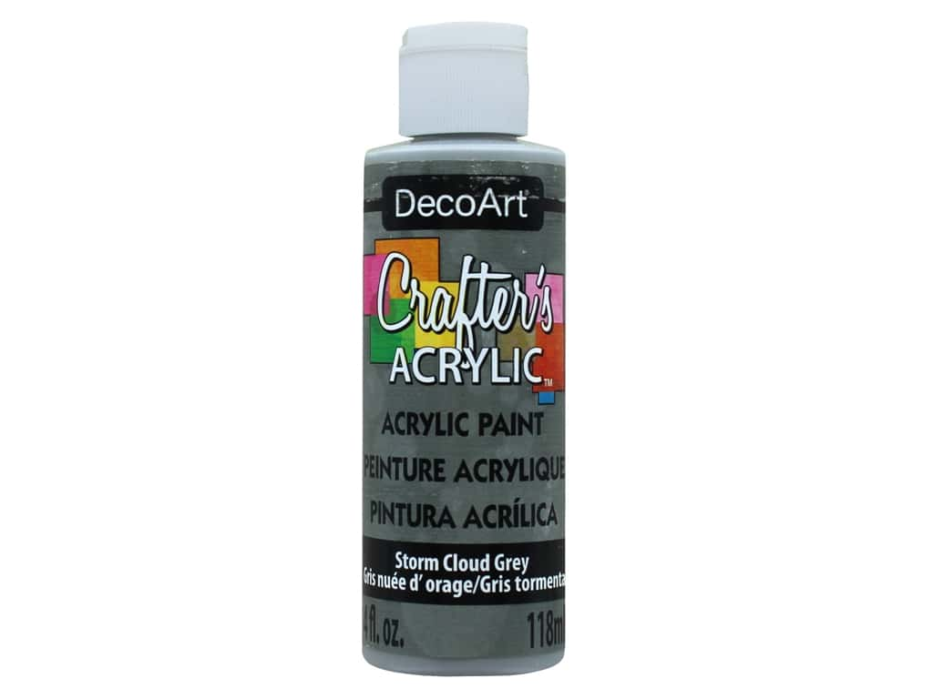 DecoArt Crafter's Acrylic Paint 4 oz. #94 Storm Cloud Grey