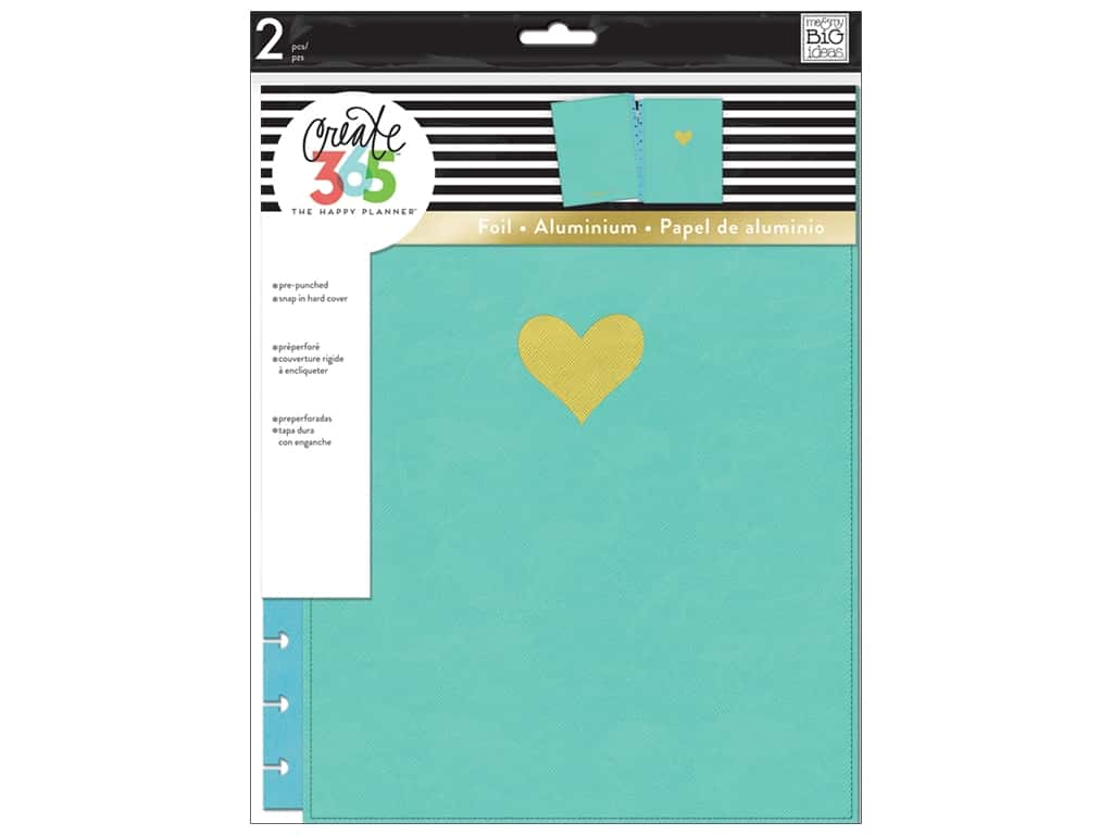 Me & My Big Ideas Create 365 Happy Planner Snap-In Cover - Big Turquoise
