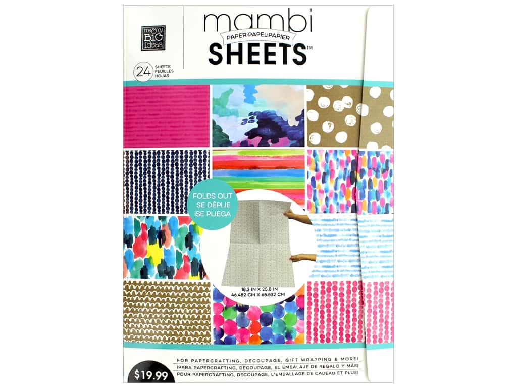 Me & My Big Ideas Sheets 18 3/8 x 25 13/16 in. Paper Pad Paint The Town