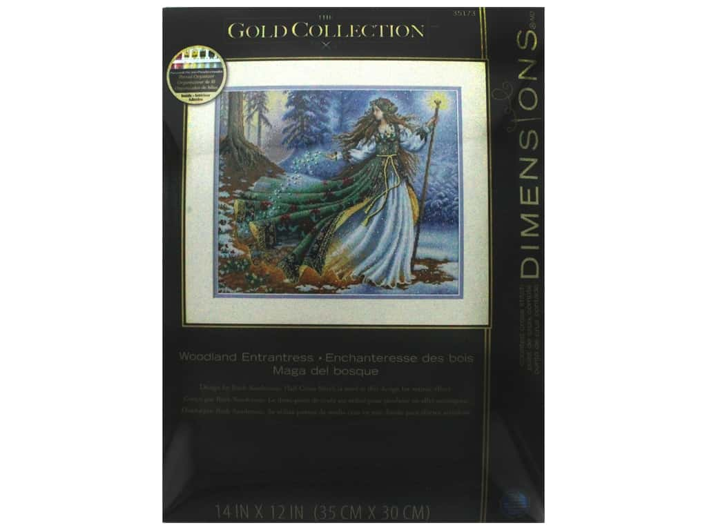 """Dimensions Cross Stitch Kit Gold Collection 14""""x 12"""" Woodland Enchantress"""