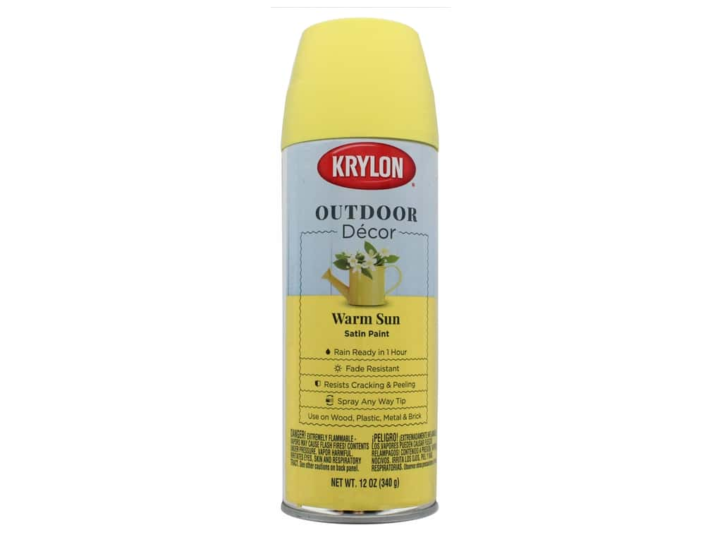 Krylon Outdoor Decor Paint 12 oz. Warm Sun