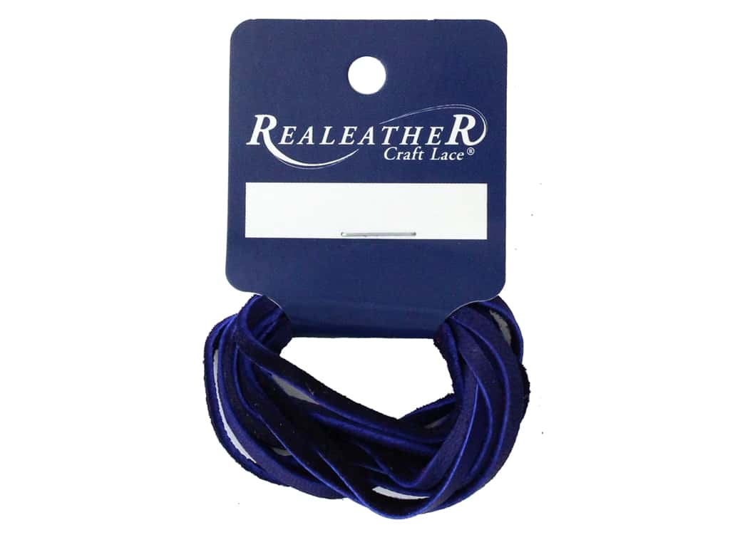 REALEATHER by Silver Creek Lace Suede 1/8 in. x  2 yd Card Purple