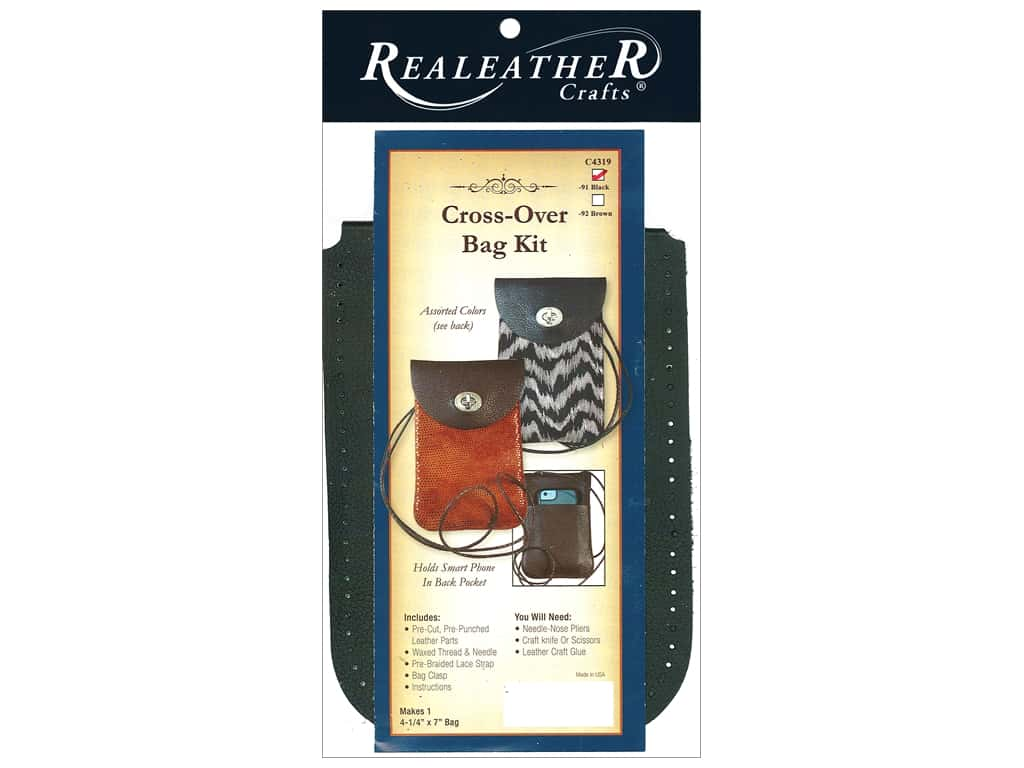 REALEATHER by Silver Creek Kit Cross-Over Bag Black