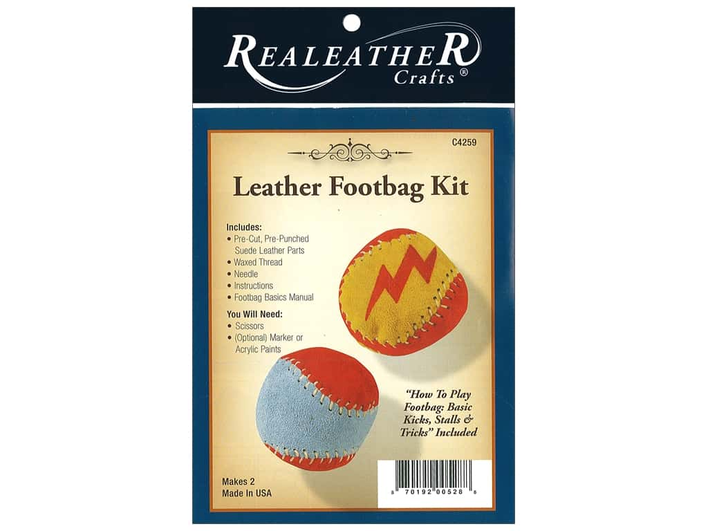 REALEATHER by Silver Creek Kit Footbag 2 pc