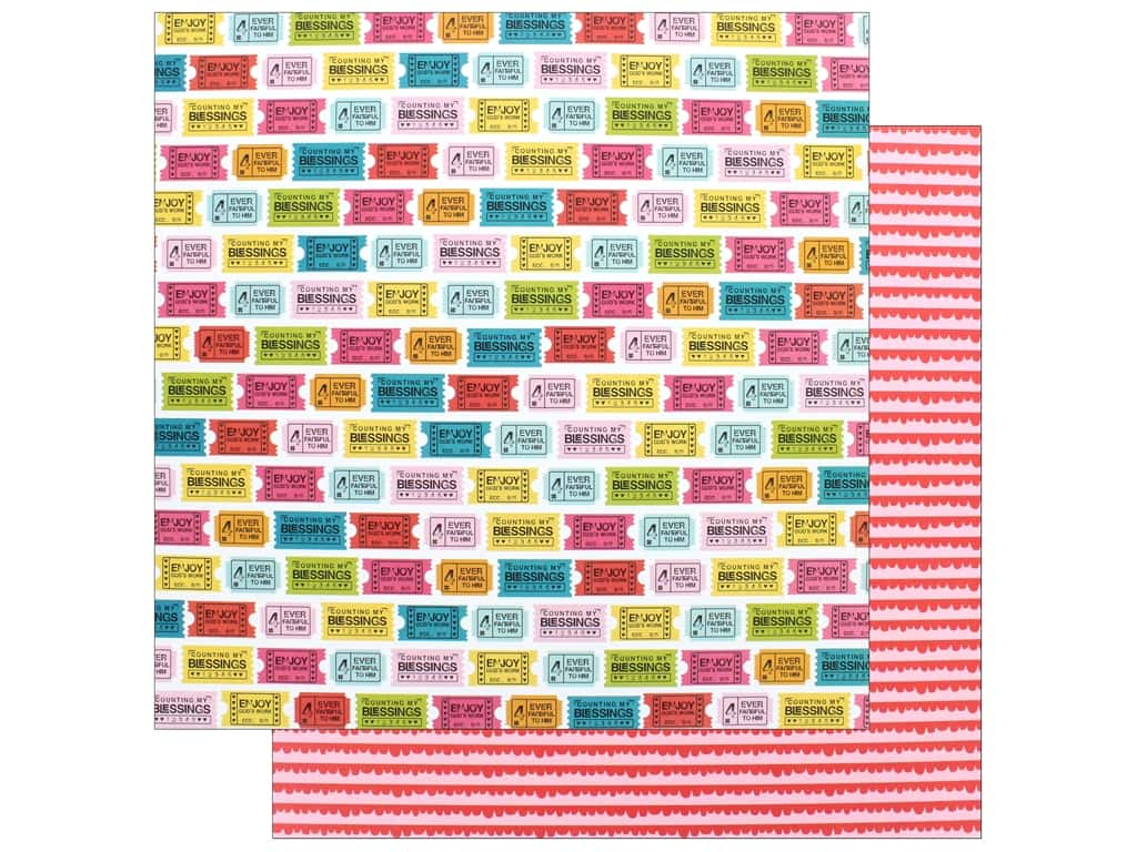 """Bella Blvd Collection Delight In His Day Paper 12""""x 12"""" Just The Ticket (25 pieces)"""