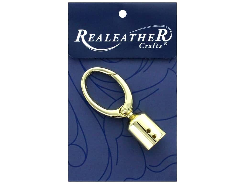 REALEATHER by Silver Creek Findings Tassel Clip 1 pc Gold