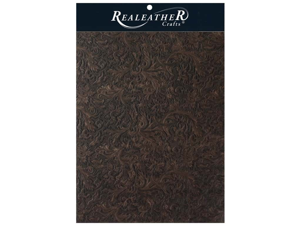REALEATHER by Silver Creek Leather Trim 8.5 in. x 11 in. Acanthus Brown