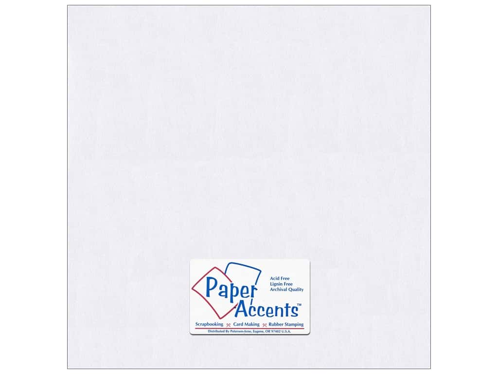 Paper Accents Pearlized Paper 12 x 12 in. #8814 Bright White 5 pc.
