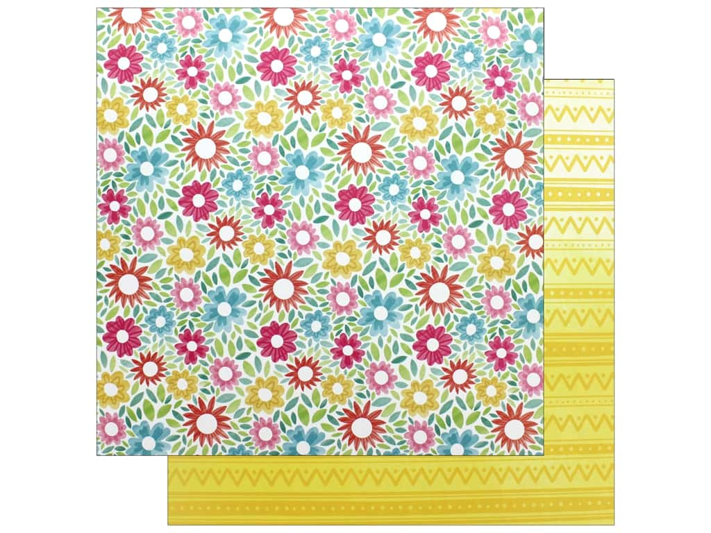 """American Crafts Collection Hello Spring Paper 12""""x 12"""" Lovely Bunny (25 pieces)"""