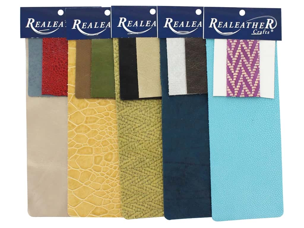 REALEATHER by Silver Creek Leather Trim Pack 3pc Assorted