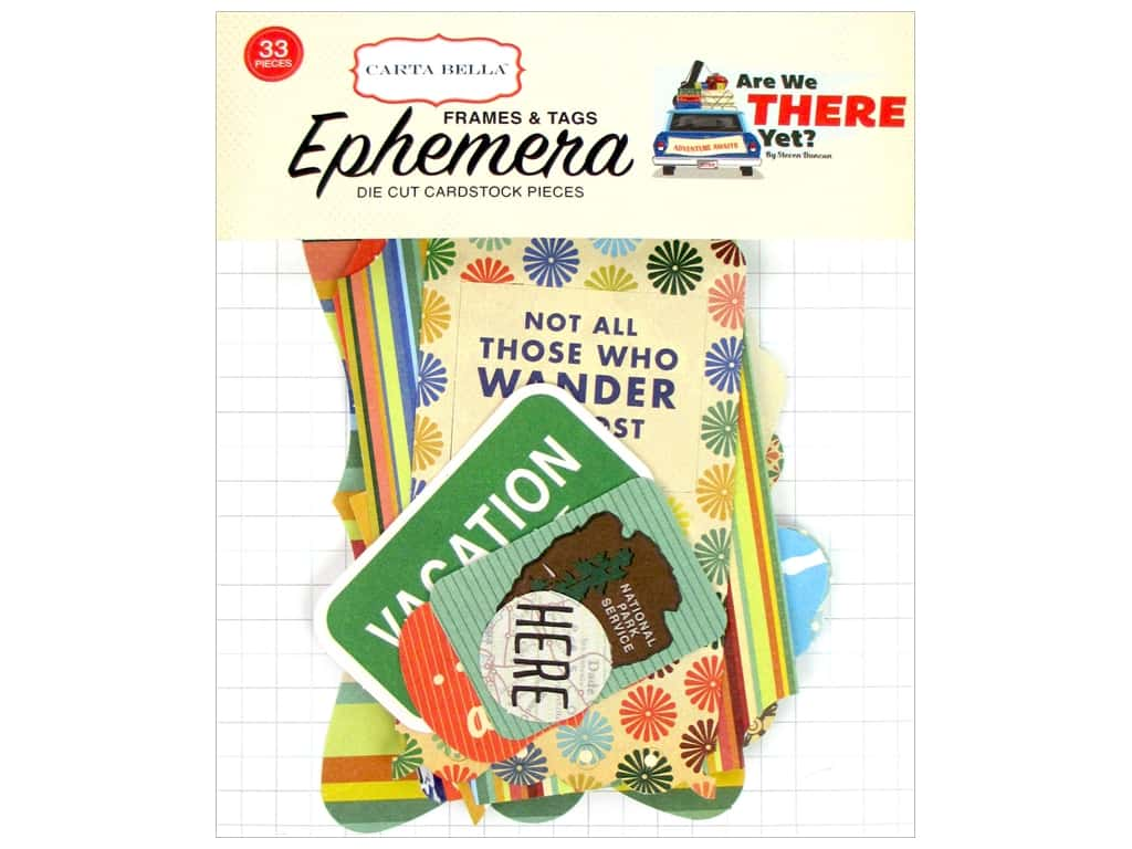 Carta Bella Collection Are We There Yet Ephemera Frames & Tags