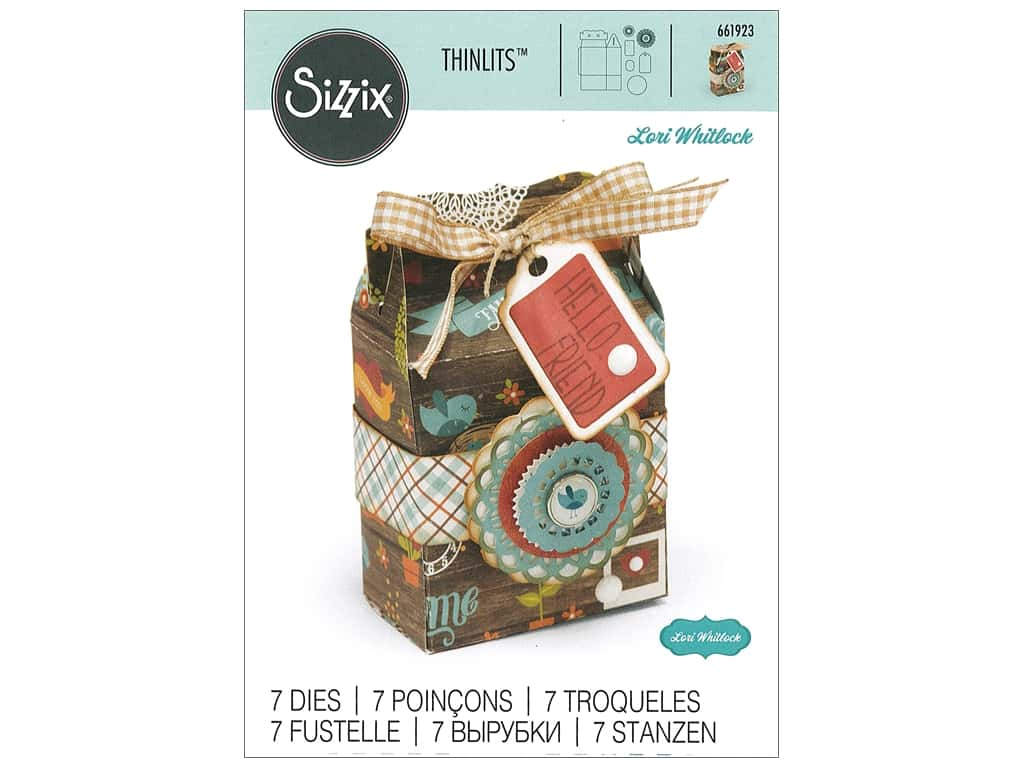 Sizzix Dies Lori Whitlock Thinlits Gable Box
