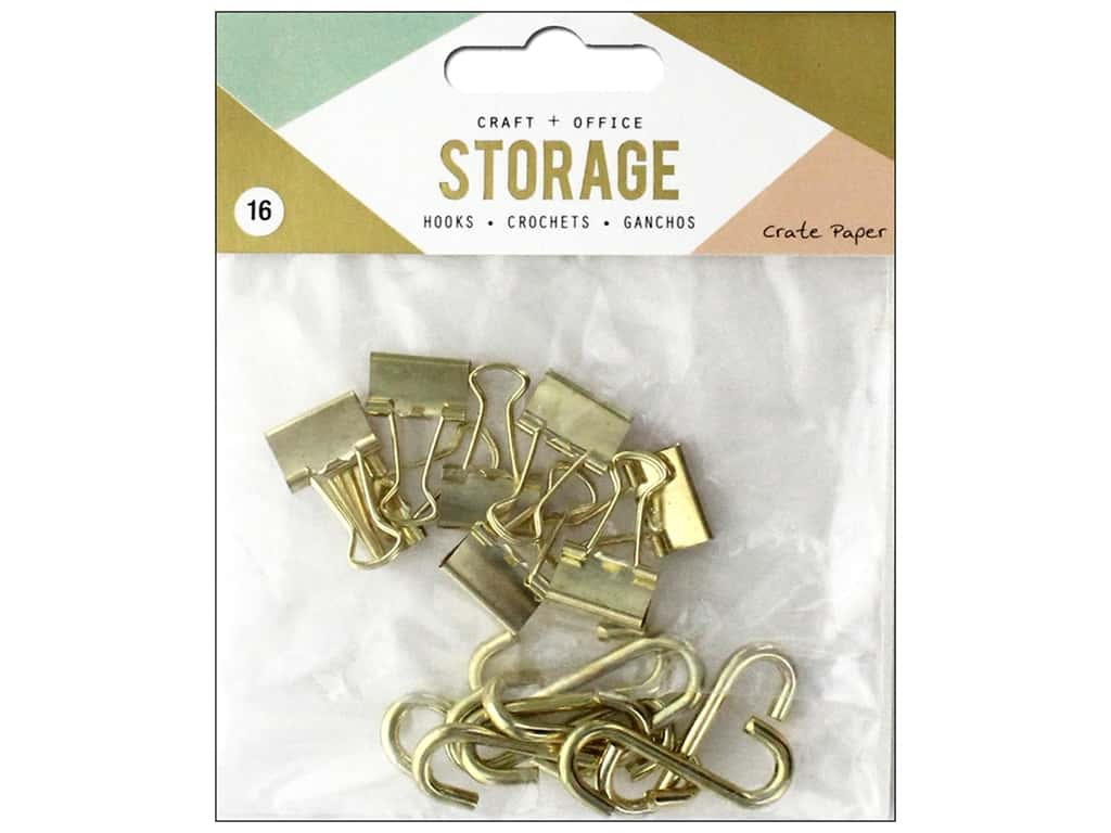 Crate Paper Craft & Offce Storage Wire System Hooks 16pc (3 pieces)