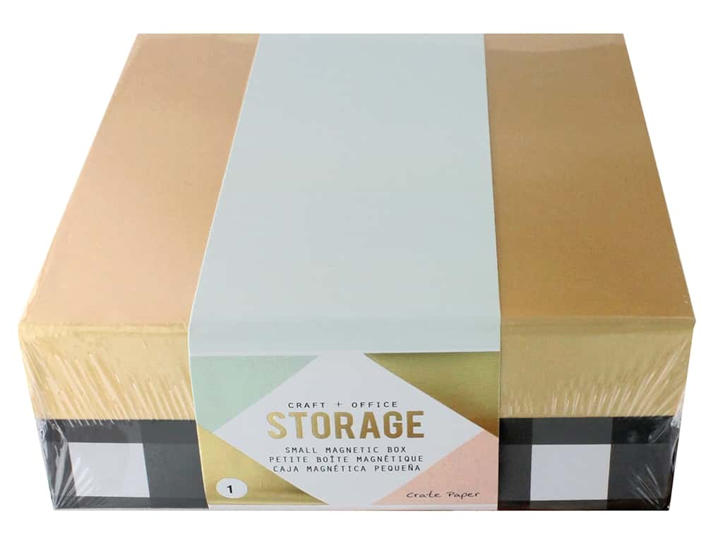 Crate Paper Craft & Offce Storage Desktop Magnetic Box Small