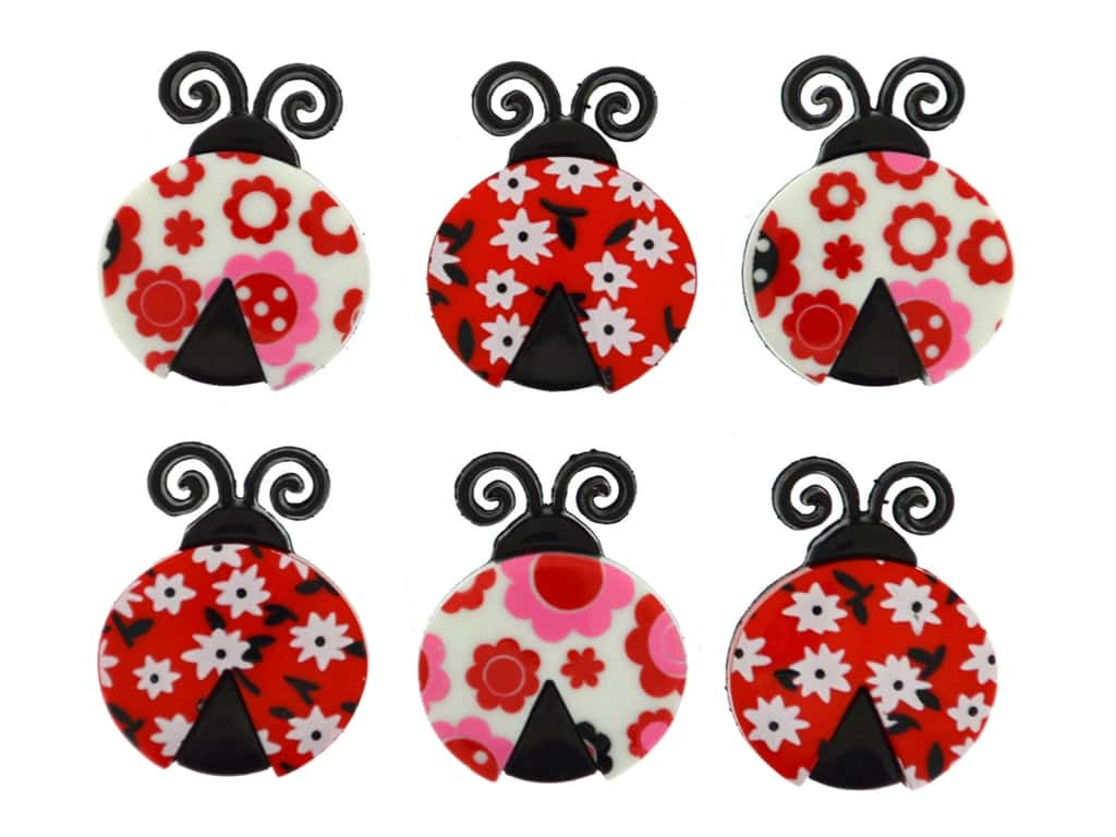 Jesse James Embellishments Ladybug Love