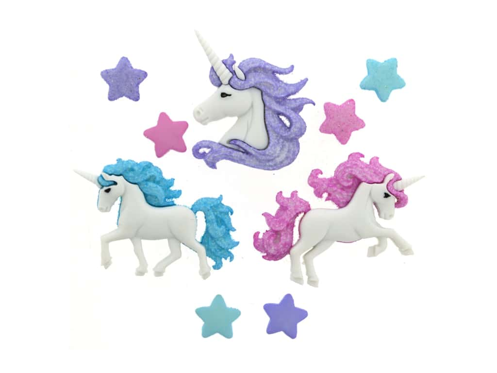 Jesse James Embellishments - Magical Unicorns