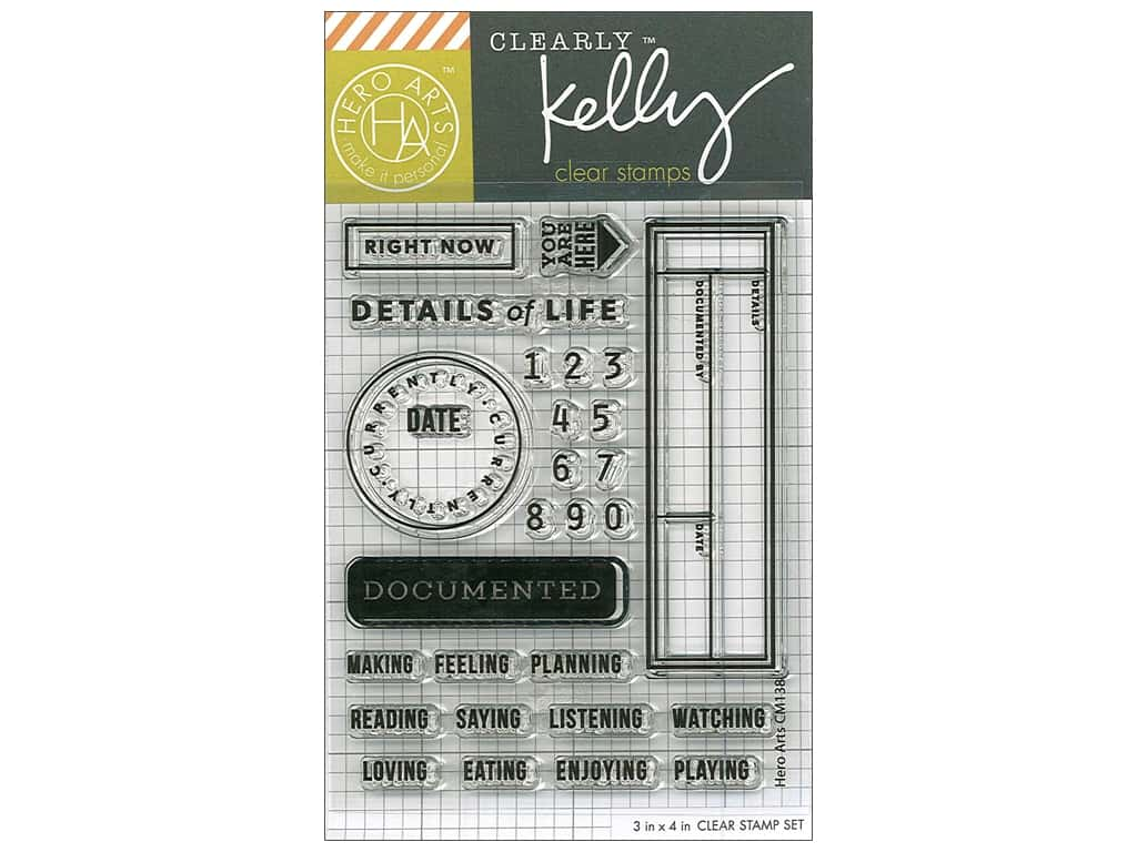 Hero Arts Poly Clear Stamp Kelly Details Of Life
