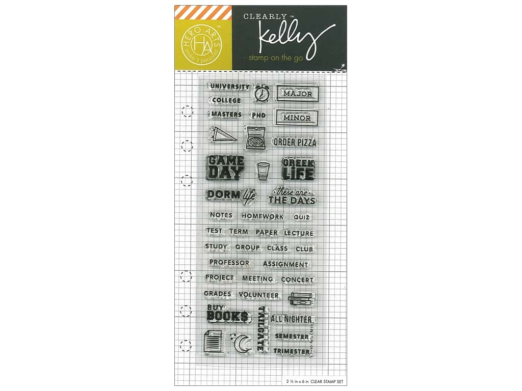 Hero Arts Poly Clear Stamp Kelly Planner College Life