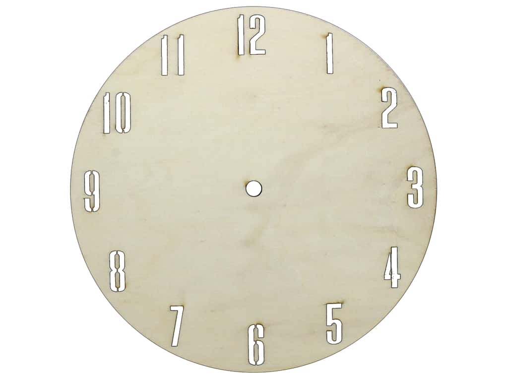 Darice All Things You DIY Clock Face Unfinished Wood Circle