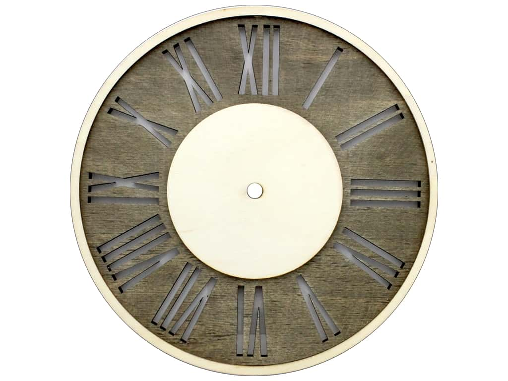 Darice All Things You DIY Clock Face Distressed Wood Circle