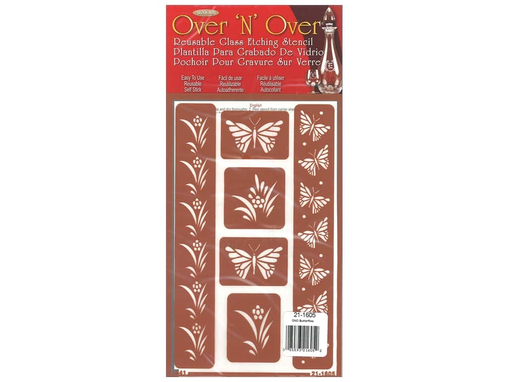Armour Over 'N' Over Stencil Butterfly Border