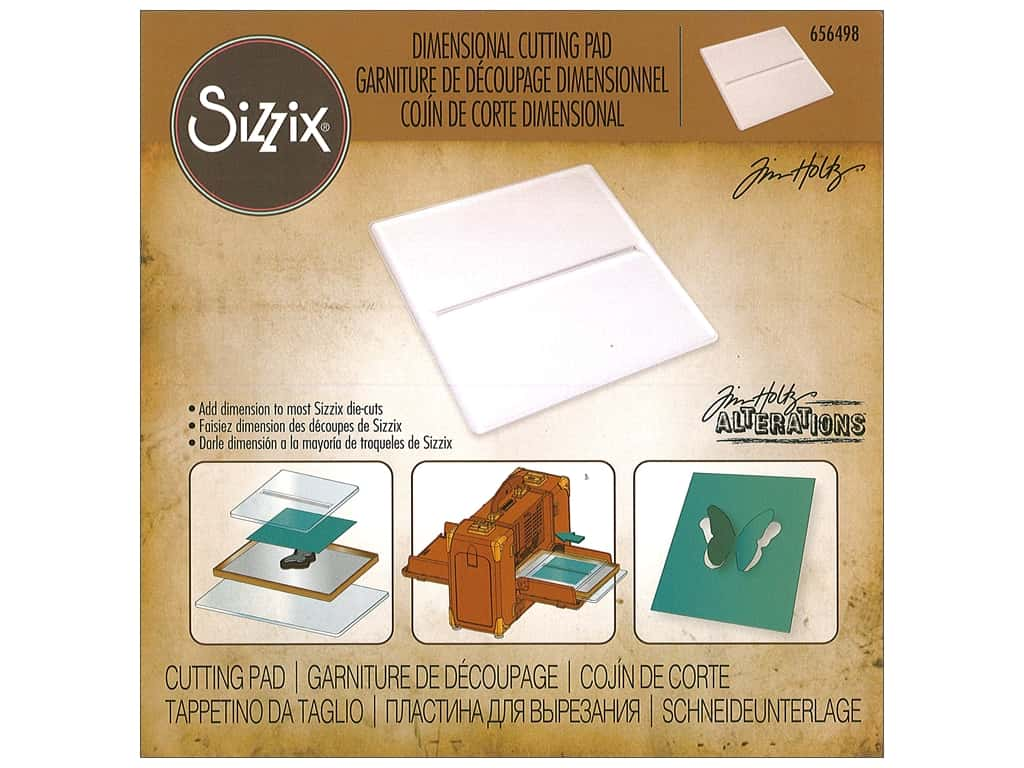 Sizzix Accessory Cutting Pad Dimensional 6 in.  x 6 in. by Tim Holtz