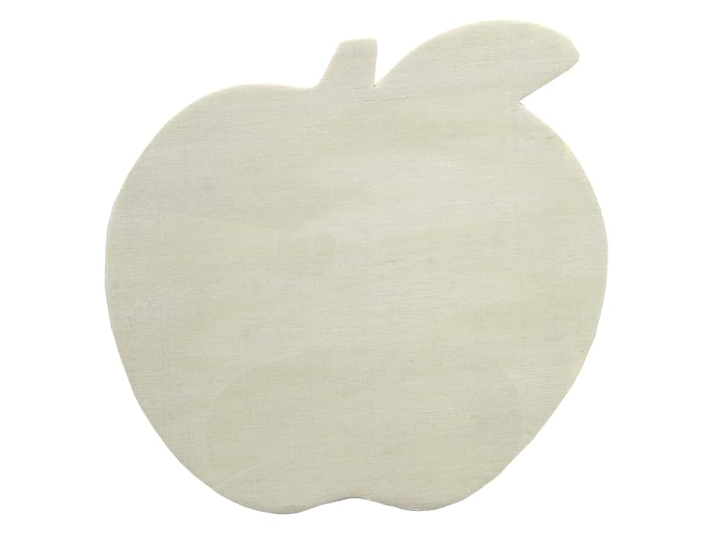 Darice Unfinished Wood Shape 5 1/4 in. Apple (12 pieces)