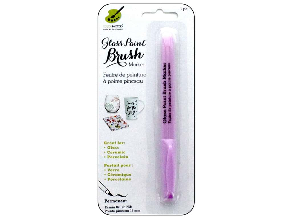 Multicraft Glass Paint Brush Marker Permanent Pink