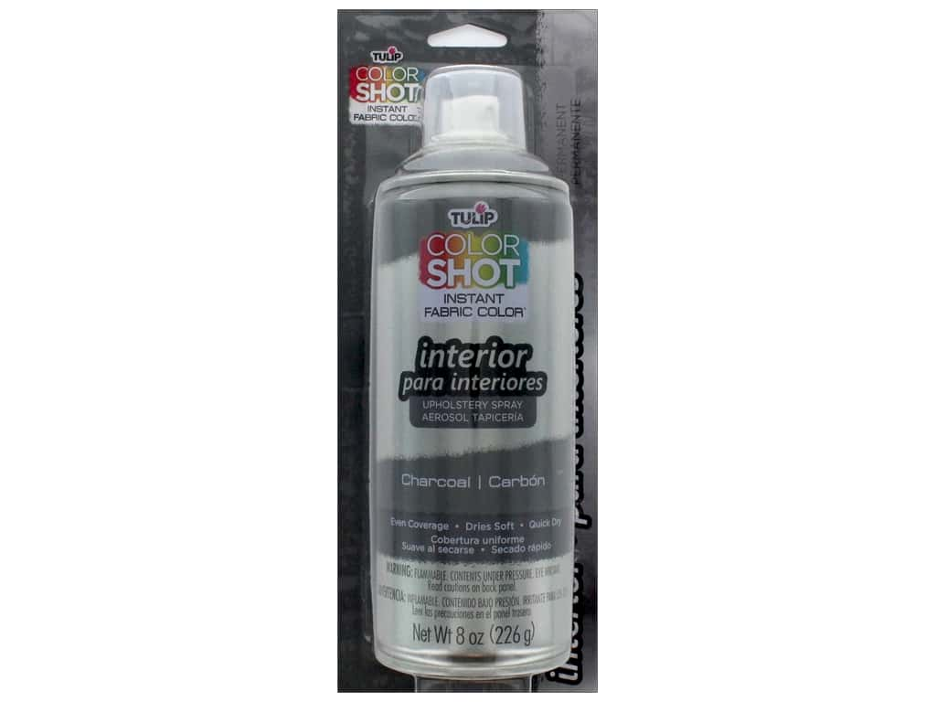 Tulip Color Shot Indoor Upholstery Spray 8oz Charcoal